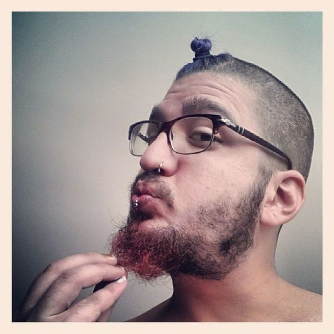 This is what happens on a Dayoff ... Indigotopknot Gingerbeard