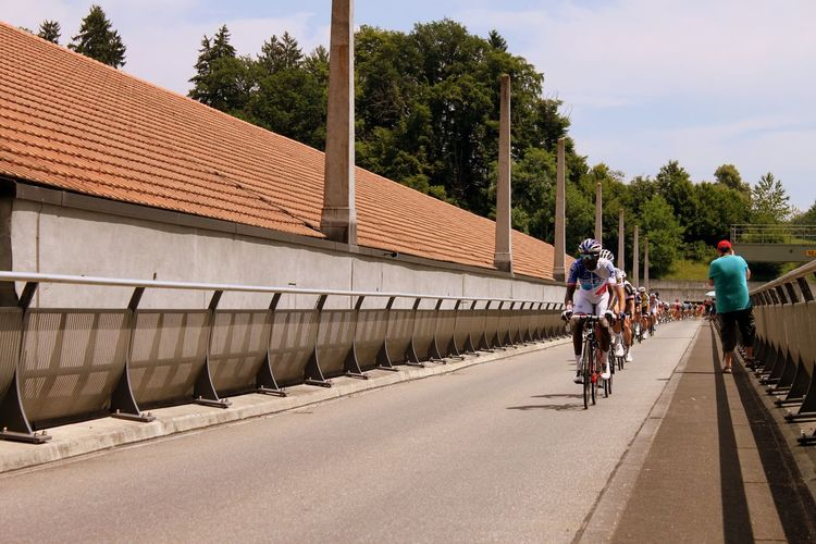 Cycling Outdoors Bridge HJB Tour De Suisse Sport Sport Event Switzerland Kanton Bern