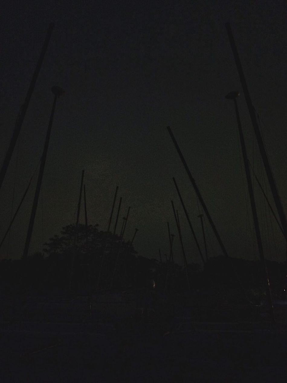 Silhouettes... Saint Mary's By The Sea Reflection Lamppost Harbour Harbor Penfield Beach Connecticut Fairfield New England  Bridgeport  June Spring Beach Boats Masts Outdoors Outside Dusk Silouette And Shadows Silouette Silouette & Sky