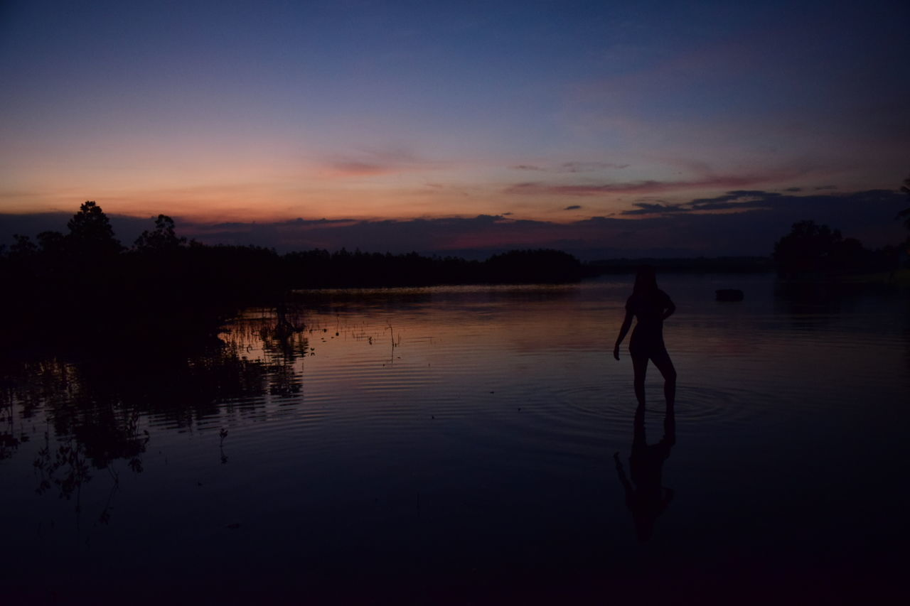 Dusk Sunset Outdoors Silhouette Photography One Person The Great Outdoors - 2017 EyeEm Awards