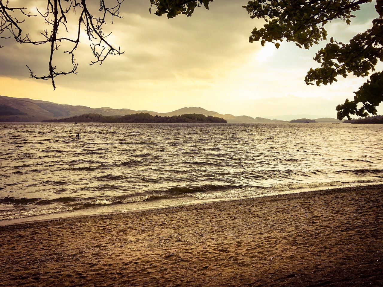 LochLomond Loch  Scenics Nature Beauty In Nature Tranquility Sky Tranquil Scene Sea Water Sand Beach No People Mountain Outdoors Sunset Tree Day