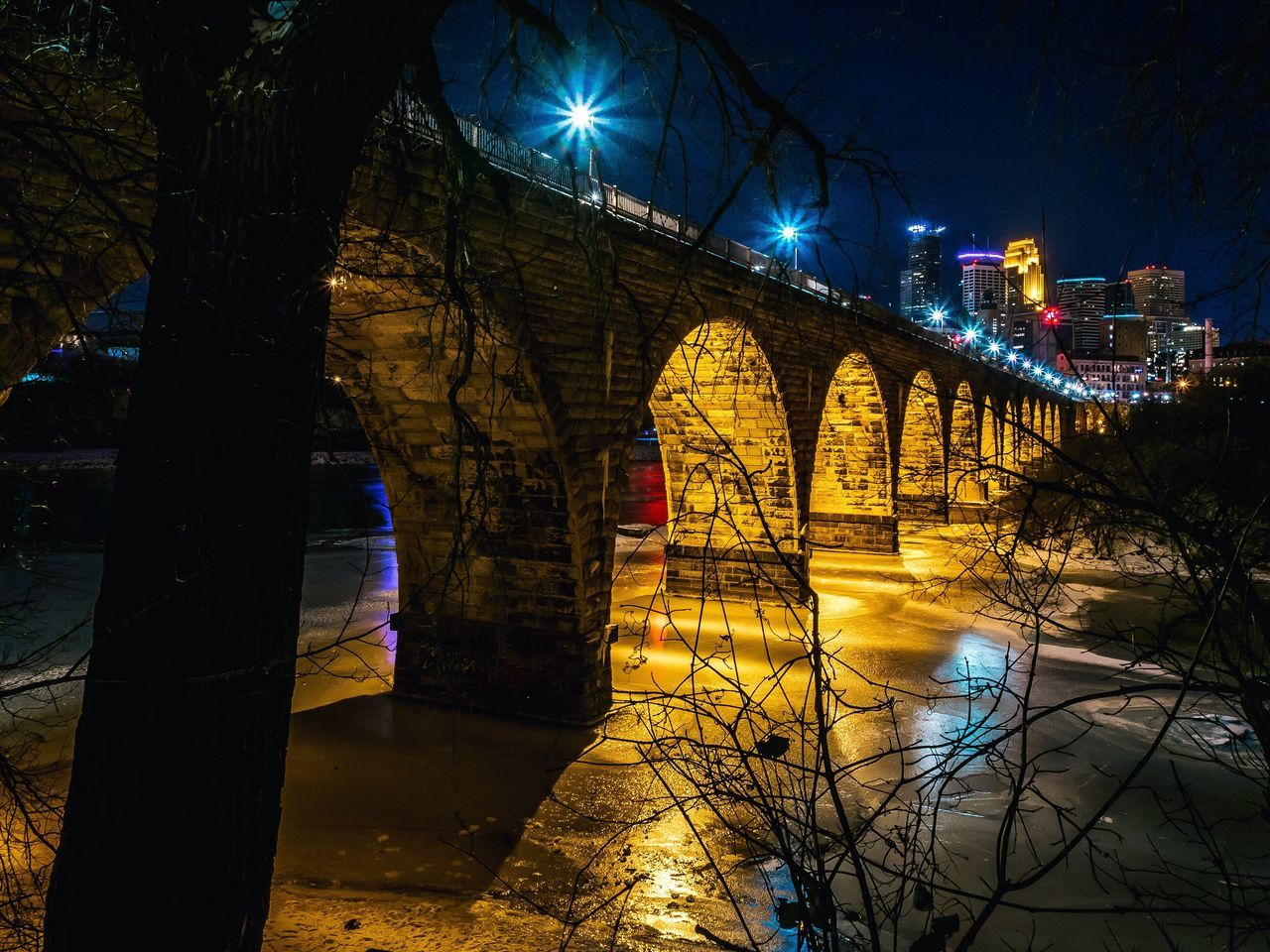 Beautiful stock photos of nacht, Arch, Arch Bridge, Architecture, Bridge - Man Made Structure