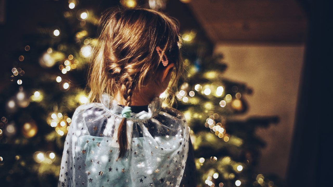 GLITTERSUPERGIRL ❤ || Christmas One Person Rear View Christmas Tree Celebration Holiday - Event Christmas Lights Gold Colored People Christmas Ornament One Woman Only Headshot Close Up Nex6 Snapseed VSCO Indoors  Close-up Portrait Lifestyles Hello World Children Only One Girl Only Child