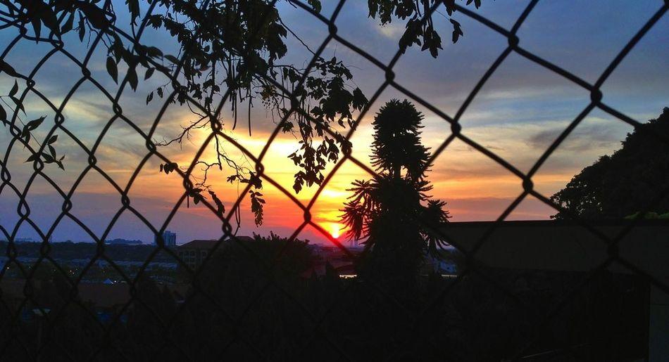 Warm sunset at Saint Paul's Church on the hill