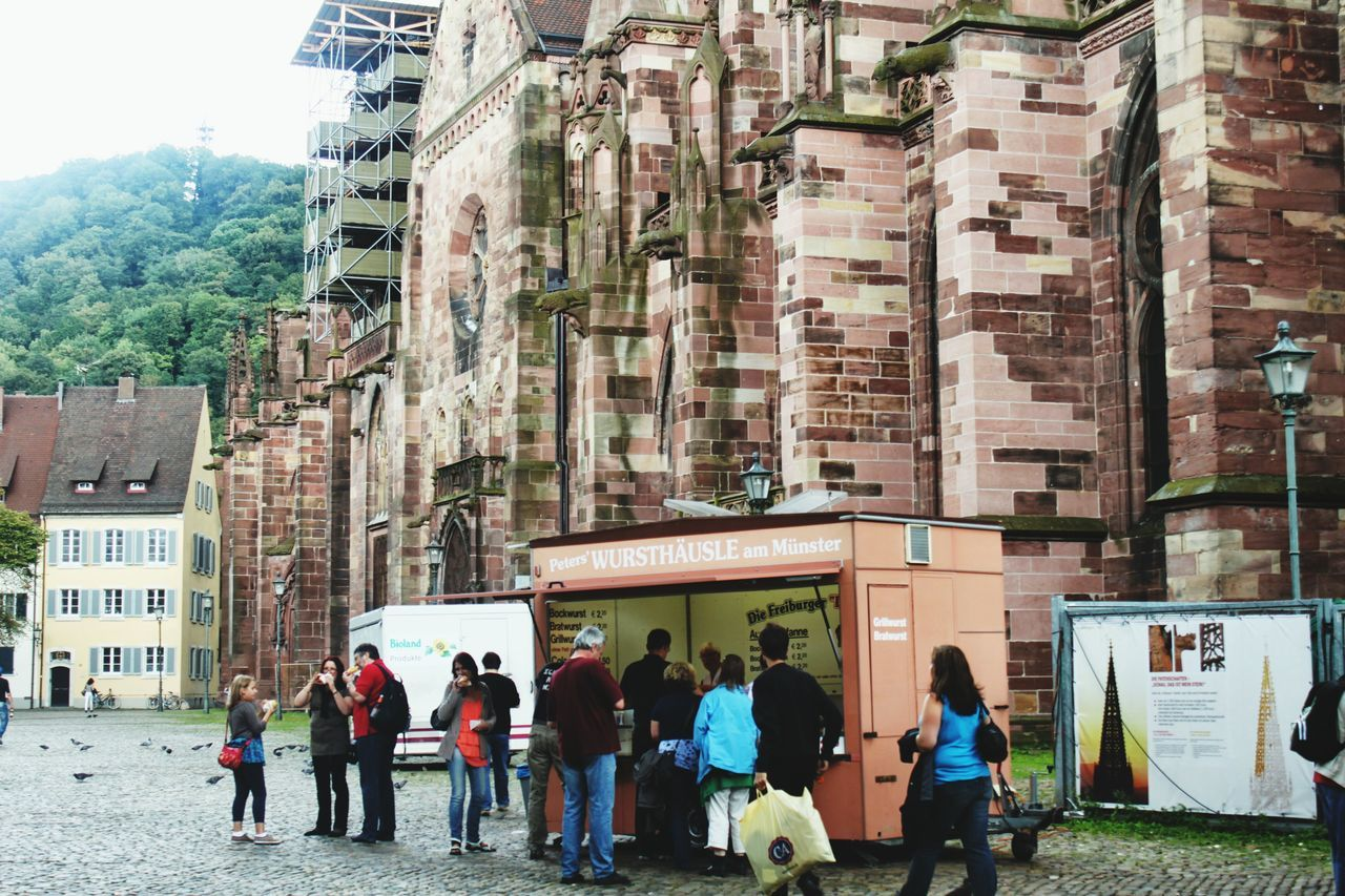 Freiburg Im Breisgau Wurst Large Group Of People Architecture Building Exterior Travel Destinations Built Structure Women Real People Men Leisure Activity Outdoors Lifestyles Food Stand