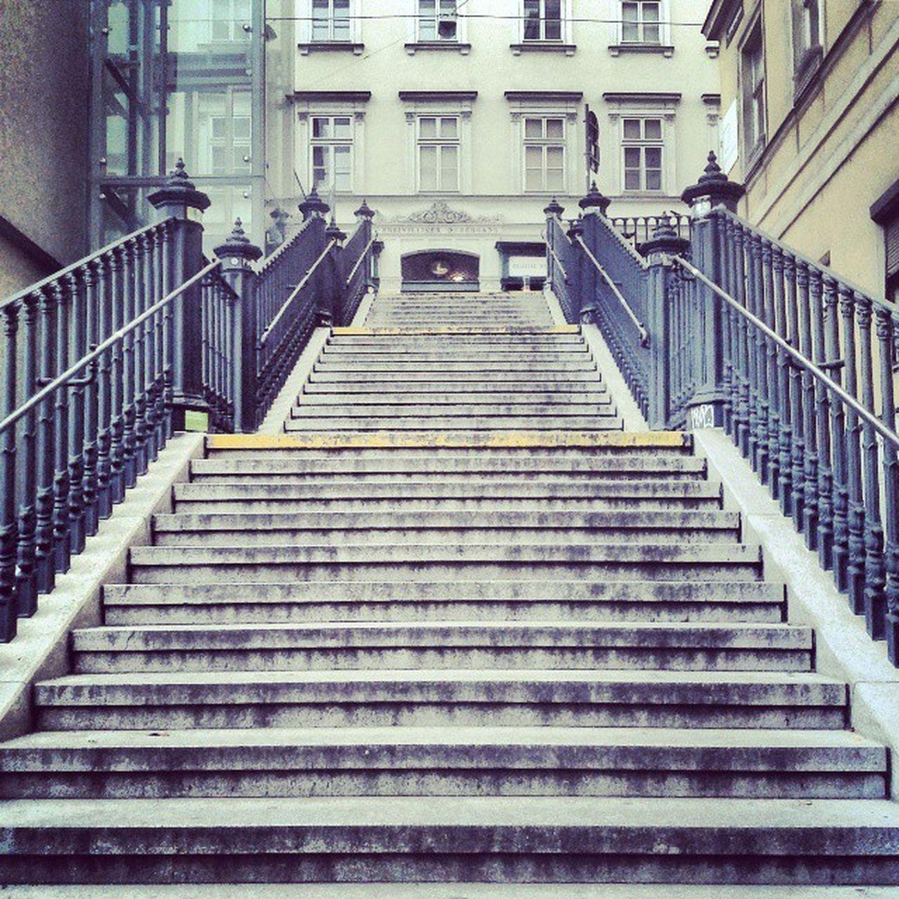Vienna Stairs Down Vienna Wien Architecture