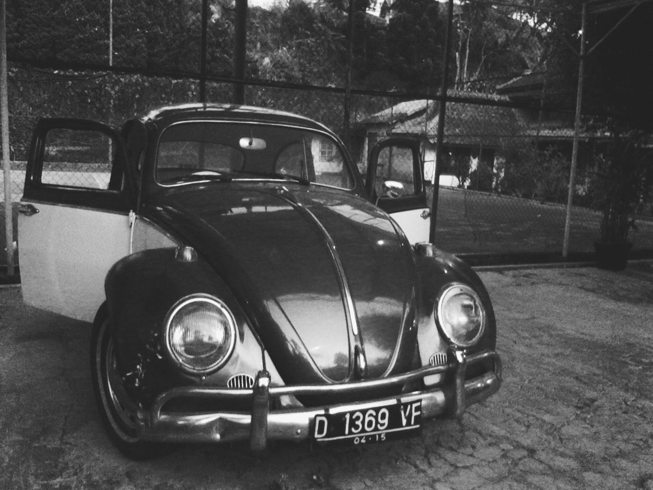 Volkswagen 1300 NokiaX Monochrome Black And White Car