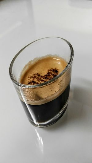 Oval Ofice Coffee Coffees Buero Table Glass Tisch Espresso X2 Doppelter Espresso Oval Glas Kaffee Pause