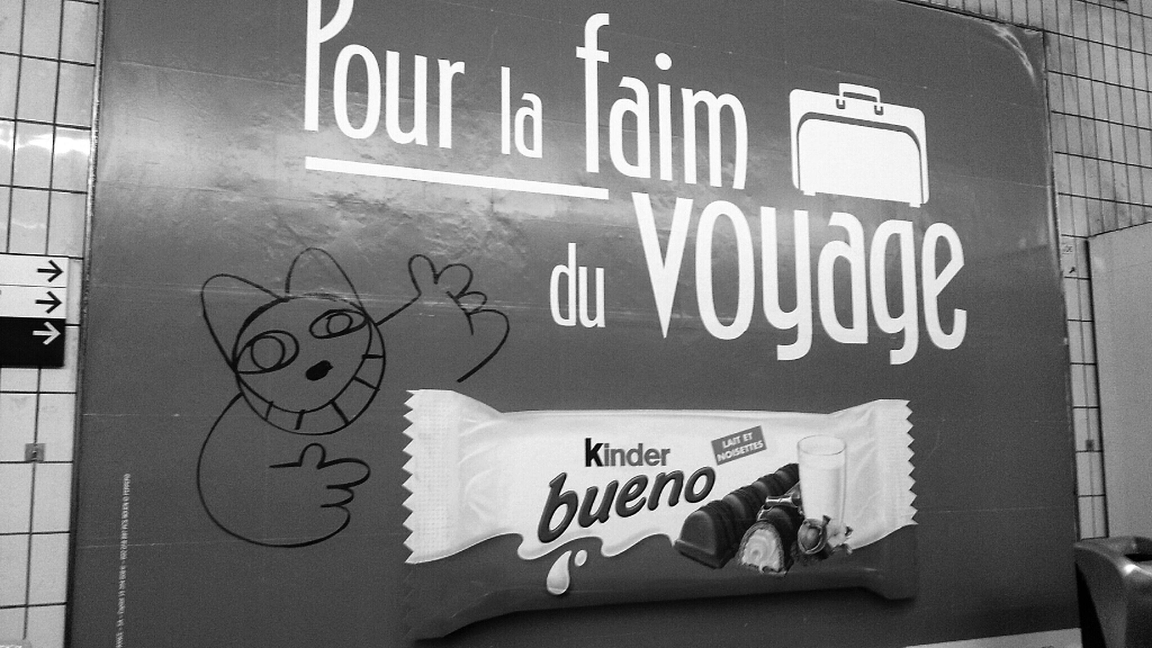 Subway Metro Paris BNW PARIS Pour La Faim (fin) Du Voyage!