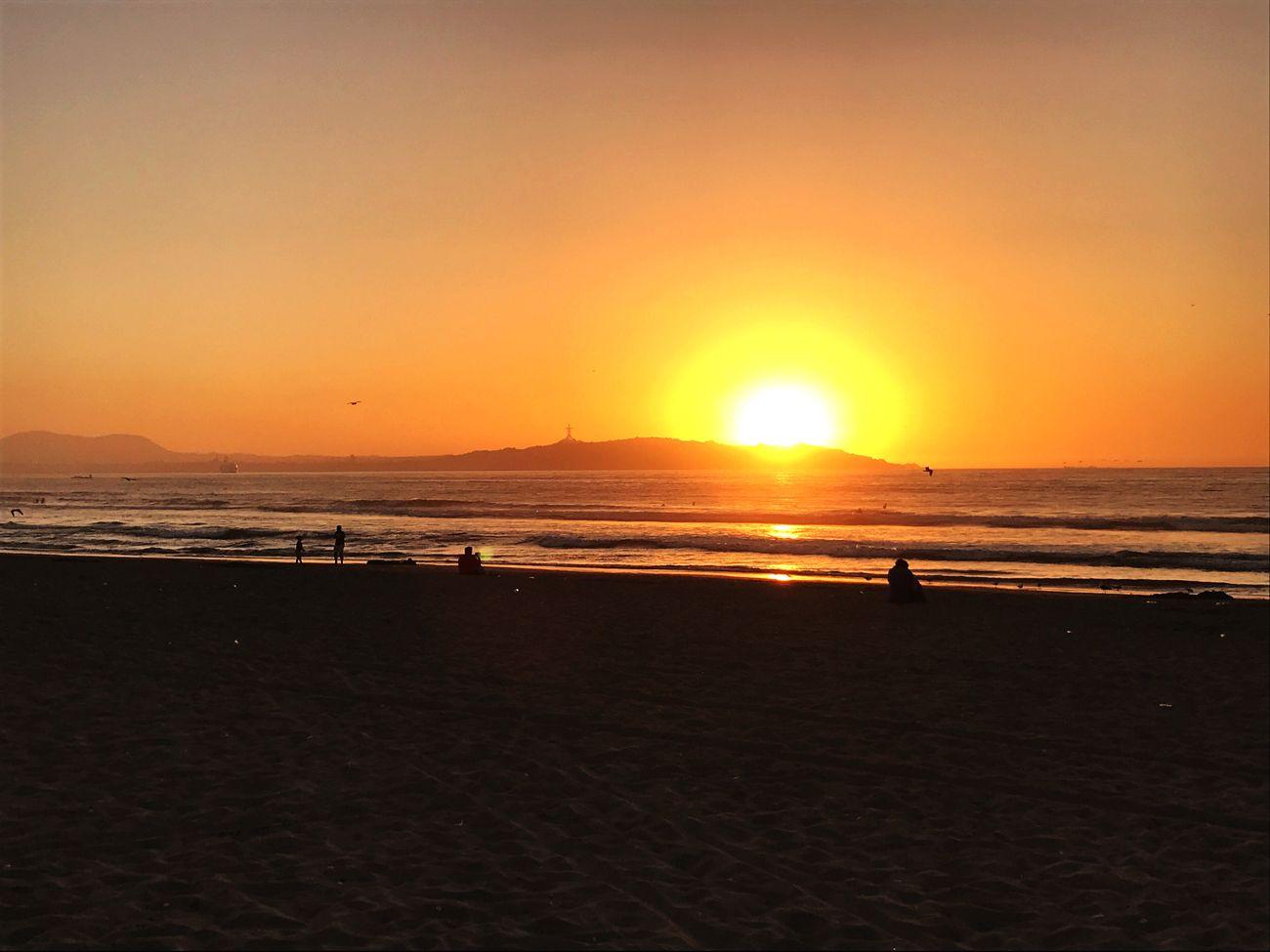 Sunset in La Serena beach, Chile First Eyeem Photo