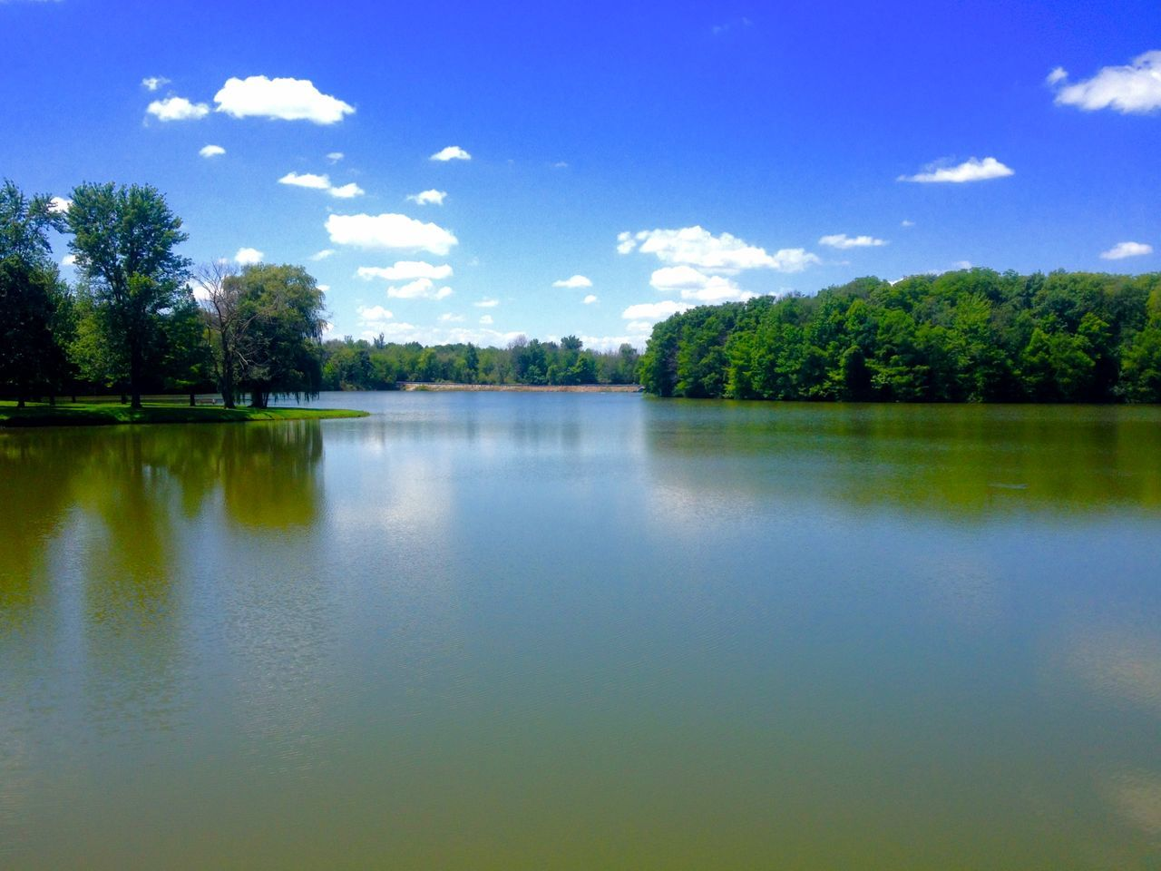 Beautiful View Blue Sky And Clouds Clear Sky Day Lake Nature Nature Outdoors Tranquil Scene Tranquility Water