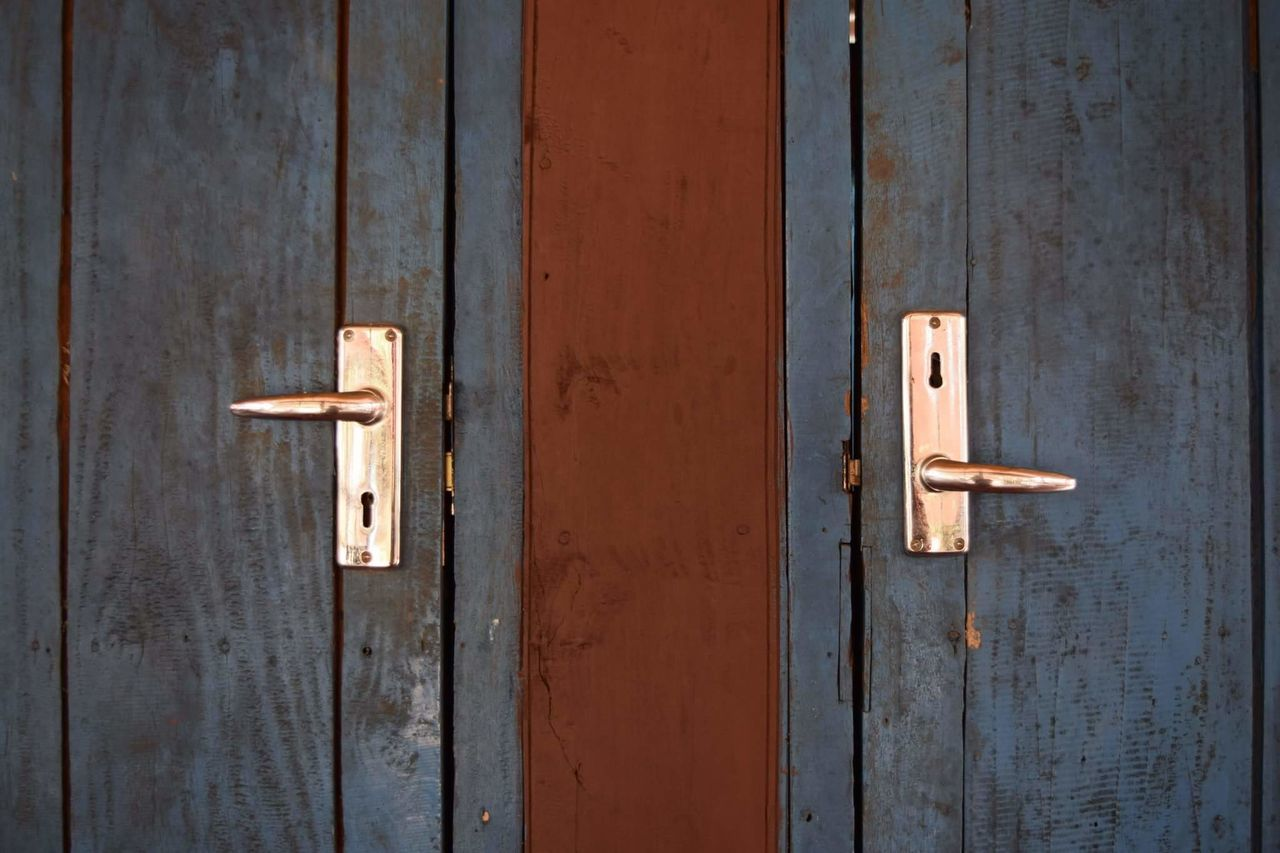 To travel is to walk a path with many doors. Some of them are a little weird. Don Det, Laos, 2016. Doors Locks Vintage Travel Travel Photography The Purist (no Edit, No Filter) No Filter, No Edit, Just Photography No People Laos Blue Wave Showing Imperfection My Favorite Photo Si Phan Don Don Det Architecture Weird