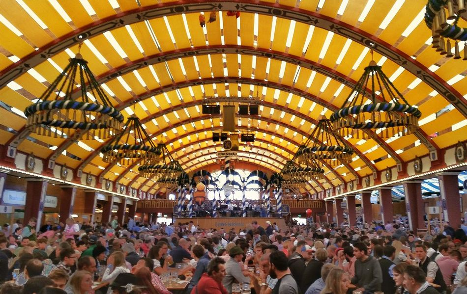 Beautiful stock photos of oktoberfest, large group of people, crowd, real people, indoors