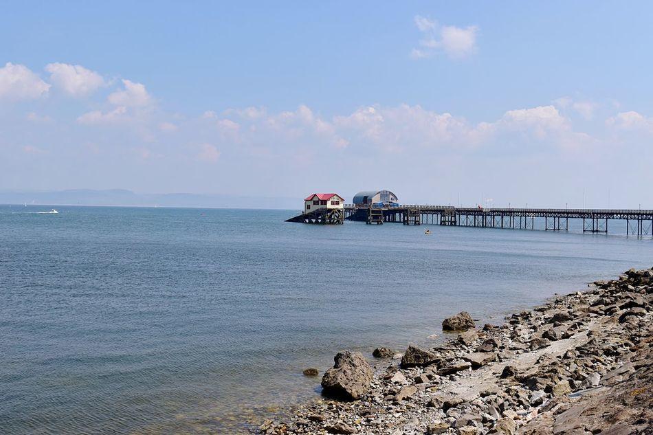 Taking Photos Rocks Pebbles Sunny Day Pier Slipway. Nikon D5500