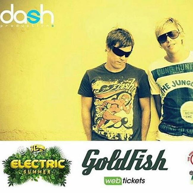 @Regrann from @dash_productions - Electric Summer 2015 are amped up to announce SA's most popular Electronic DJ Duo,GOLDFISH, will be co-headlining along withClean Banditthis year! Local boys, David Poole and Dominic Peters have fast gained international fame, opening for some of the biggest and baddest Electronica acts in the world! Jozi and CT can look forward to jamming to their jazzy, electro, dance beats at this year's Electric Summer Music Festival! Contact 061 231 1007 for Early Bird tickets! ElectricSummerSA Goldfish Regrann