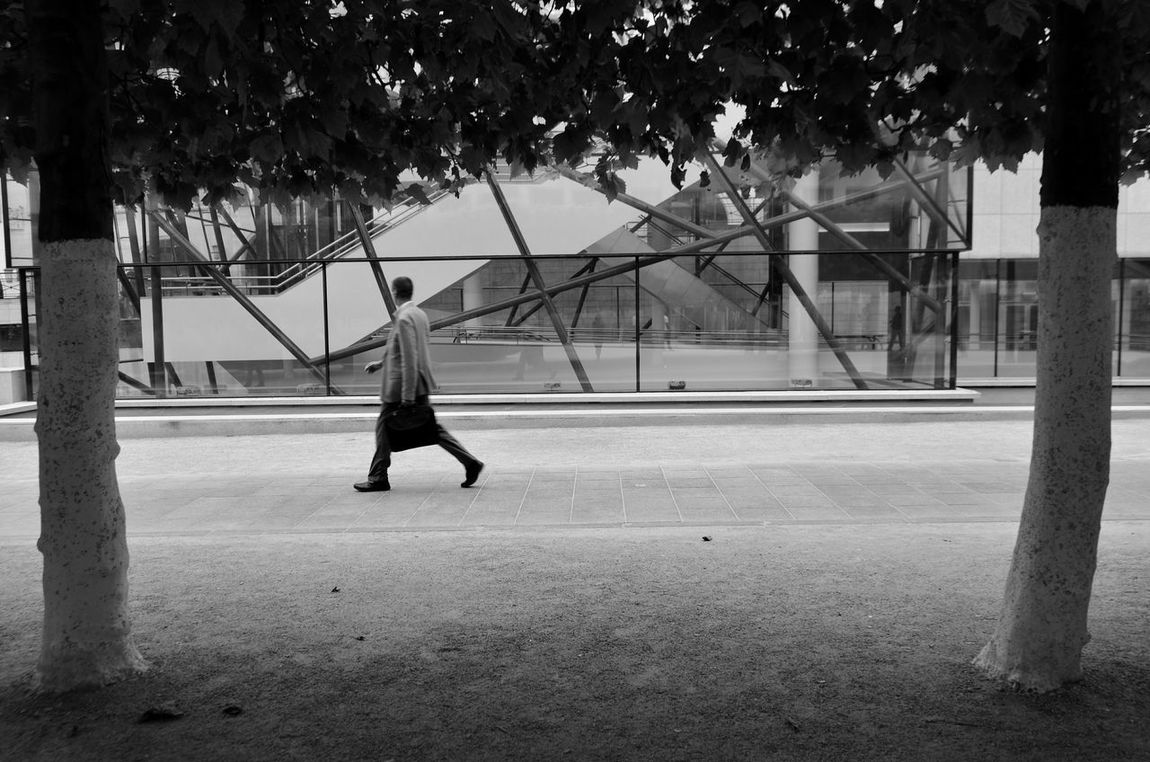 People. Adult People One Person Outdoors Day Tree Court Lines And Patterns City Street White Color Brussels Belgium Citizen Hurrying Man Going Somewhere GoingToWork People Around The World Black & White Black And White B&w Lifestyles Real People Spontaneous Moments