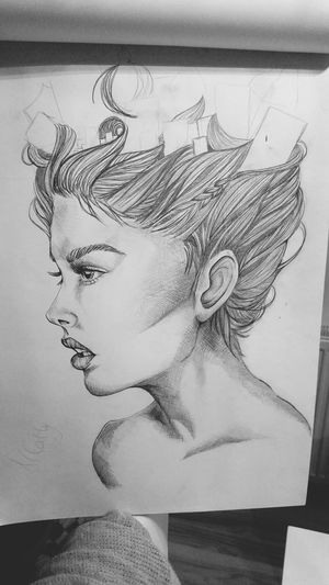 My Drawing Unfinished Work... Art, Drawing, Creativity Black & White