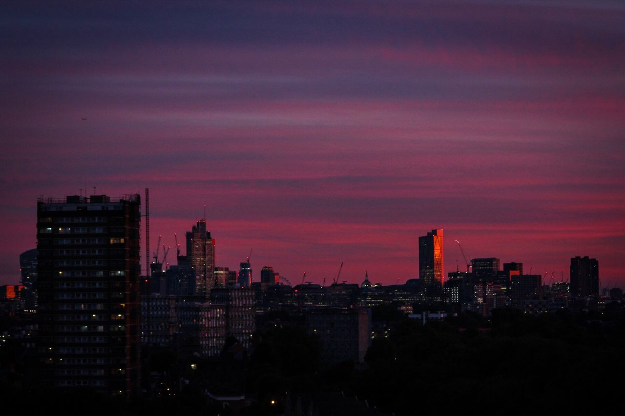 Skyscraper Cityscape City Architecture Modern Building Exterior Illuminated Travel Destinations No People Growth Sky Built Structure Sunset Urban Skyline Night Outdoors