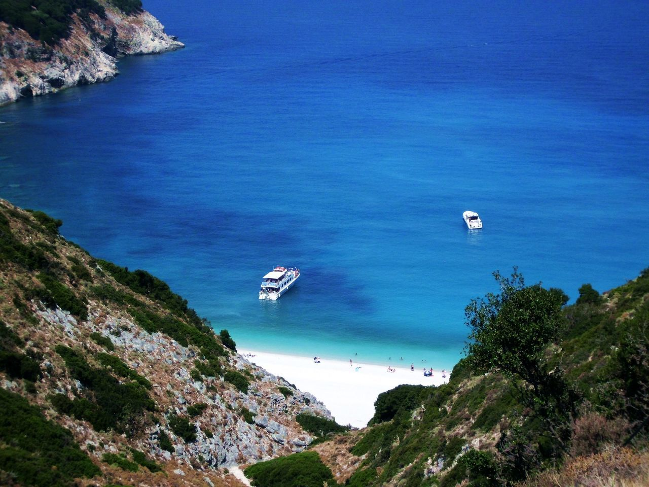 Bay Beach Beautiful Blue Mountains Myrtos Sea Ship White Seeing The Sights Showcase: November Everyday Joy Picturing Individuality Kefalonia IslandGreece My Best Photo 2015 Showcase: December