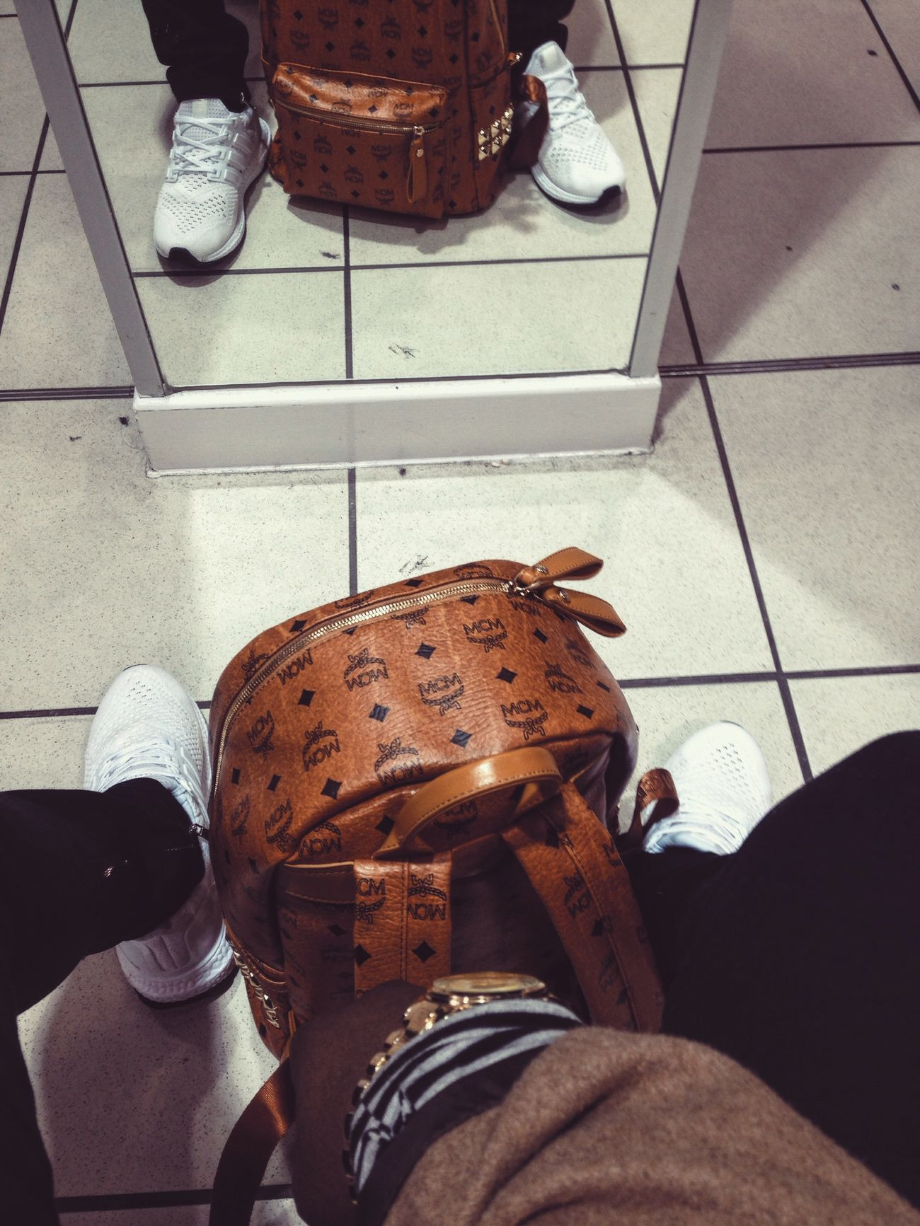 Cocaine white ultra boost x MCM MCMBAGS Adidas My Adidas White First Eyeem Photo