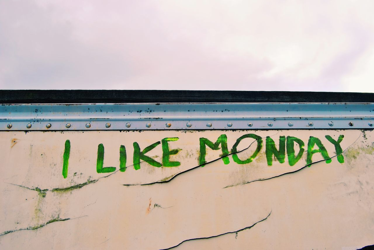I Like Mondays Mondays Monday's Signs Sign New Years Resolutions 2016 Painting Graffiti Grafitti Graffitiporn Graffiti Art Graffitti Graffiti Wall Monday Mondays... Mondaymorning Monday Morning Monday ♥ MondayMotivation MONDAY! Mondaymood Monday Blues Mondayssuck Day Like