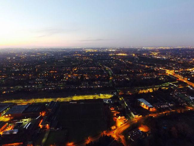 A Bird's Eye View Birmingham UK Nightphotography Night Lights