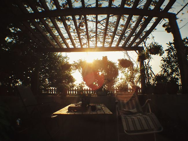 Work is done~Time to Enjoying Life Relaxing Sunset Garden