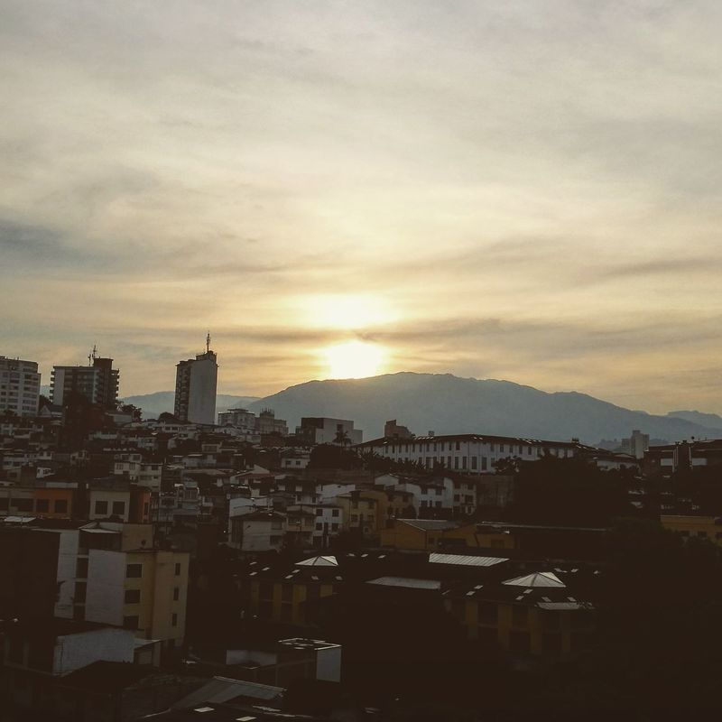 Sunrise Sun Clouds Sky City Newday Newchance Hope No People Light View From My Window Manizales-Colombia