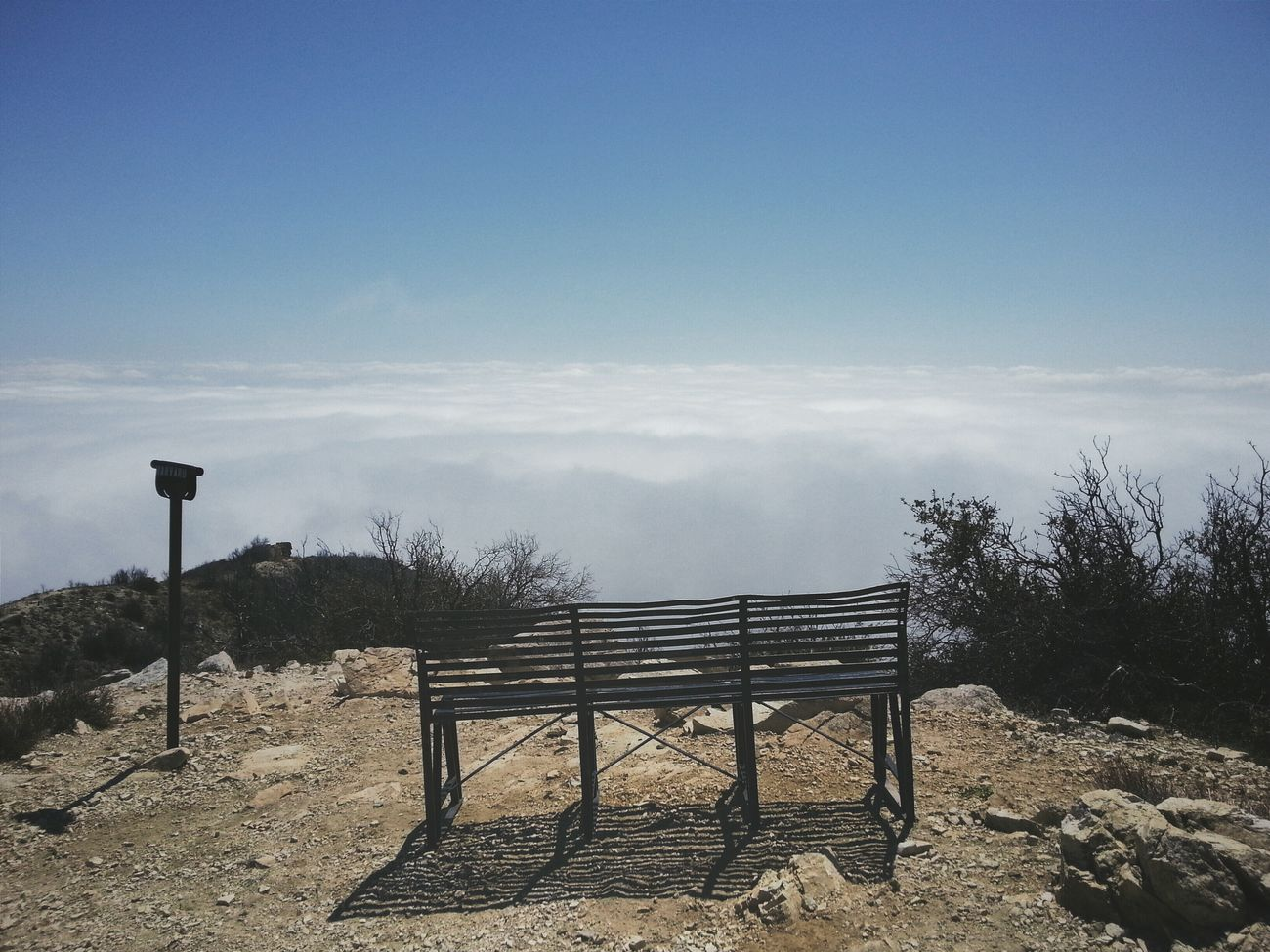 Row 1, Seat 1. Mount Lowe, Summit. California Landscape Nature Hiking