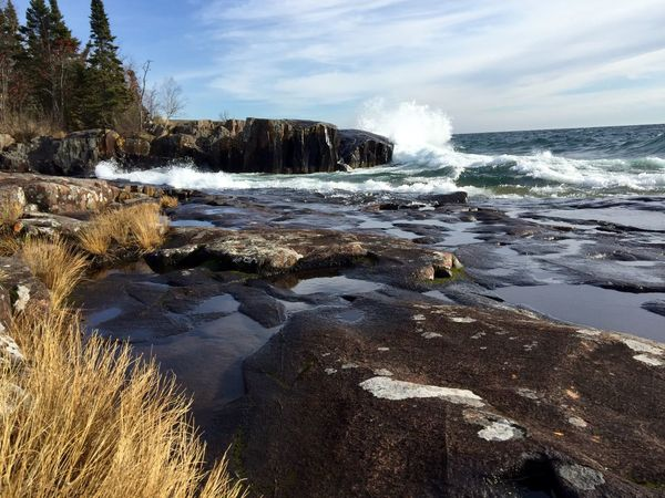 High winds and storms make for beautiful images! Check This Out Taking Photos Landscape_lovers Photography Waves Crashing Enjoying Life Landscape_photography Landscape Nature Hello World Lake Superior North Shore Minnesota North Shore Lake Superior North Shore MidWest