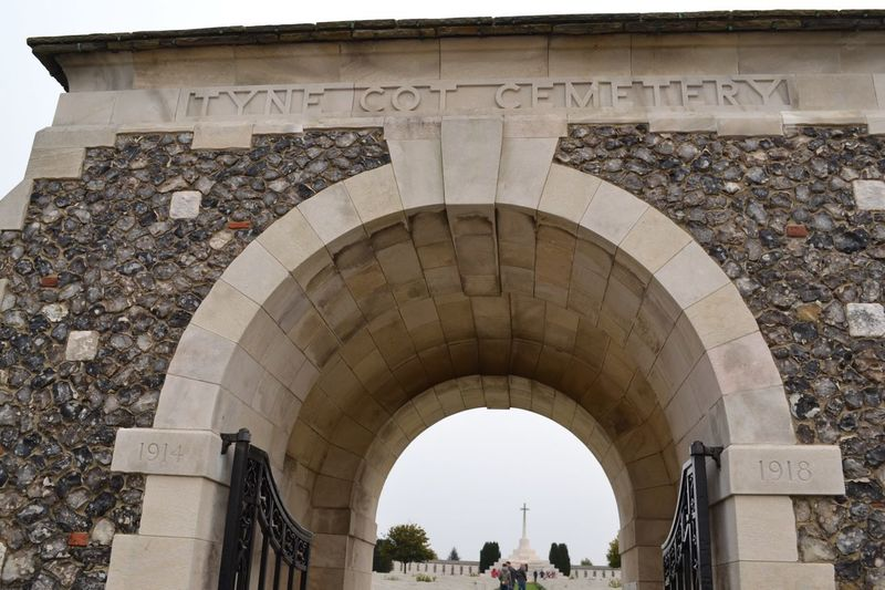 Tyne Cot Cemetery Arch Architecture Built Structure Travel Destinations Day Outdoors Adult Cemetery