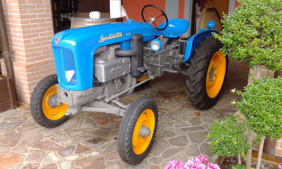 Blue Old-fashioned No People Tire Tractor Outdoors Land Vehicle Day Landini Landinetta