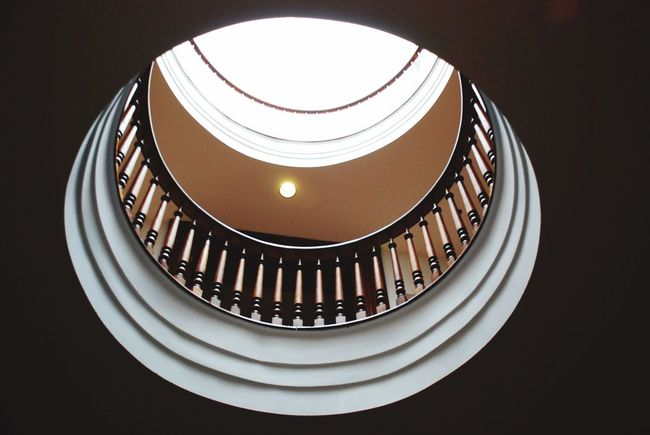 Taking Photos Lookingup in the rotunda of the Old Statehouse Museum EEA3-Little Rock EEA3