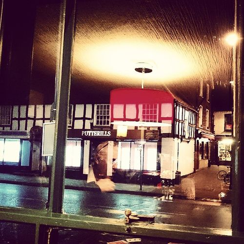 Looking out of the RedLion Pub in Stevenage Oldtown Hertfordshire no one about, very quiet last night Xperiaz3
