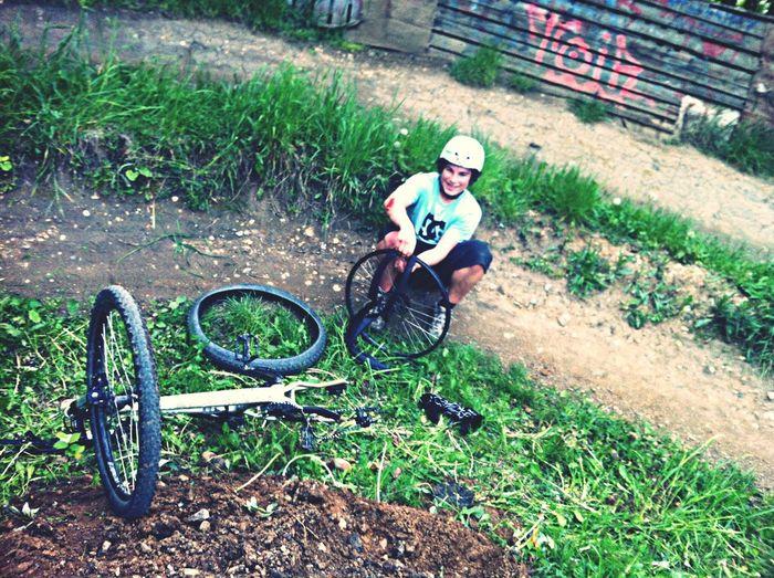 Bikepark Fat Friend Crash