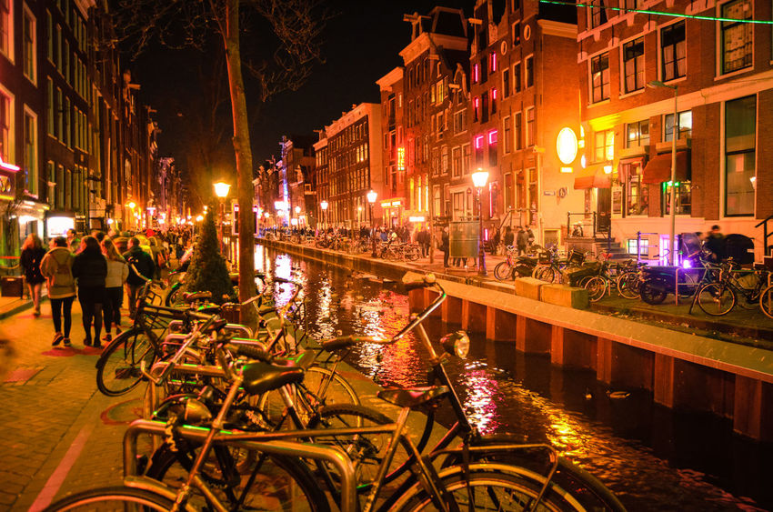 Amsterdam Holland Illuminated My Amsterdam Night Lights Nightphotography Outdoors Red Light District Sky Travel Travel Photography Travelling Turism Turistic Places