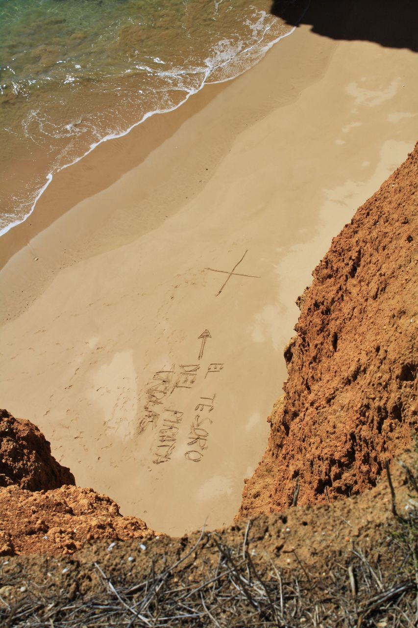 Text On Sand At Beach