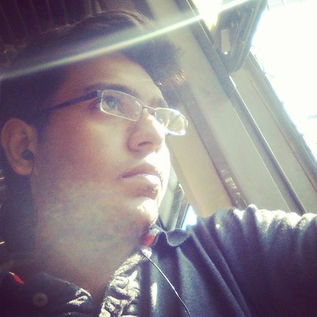 Thats me...Serious Tensed Thinker Train noonhaircutlisteningtomusic