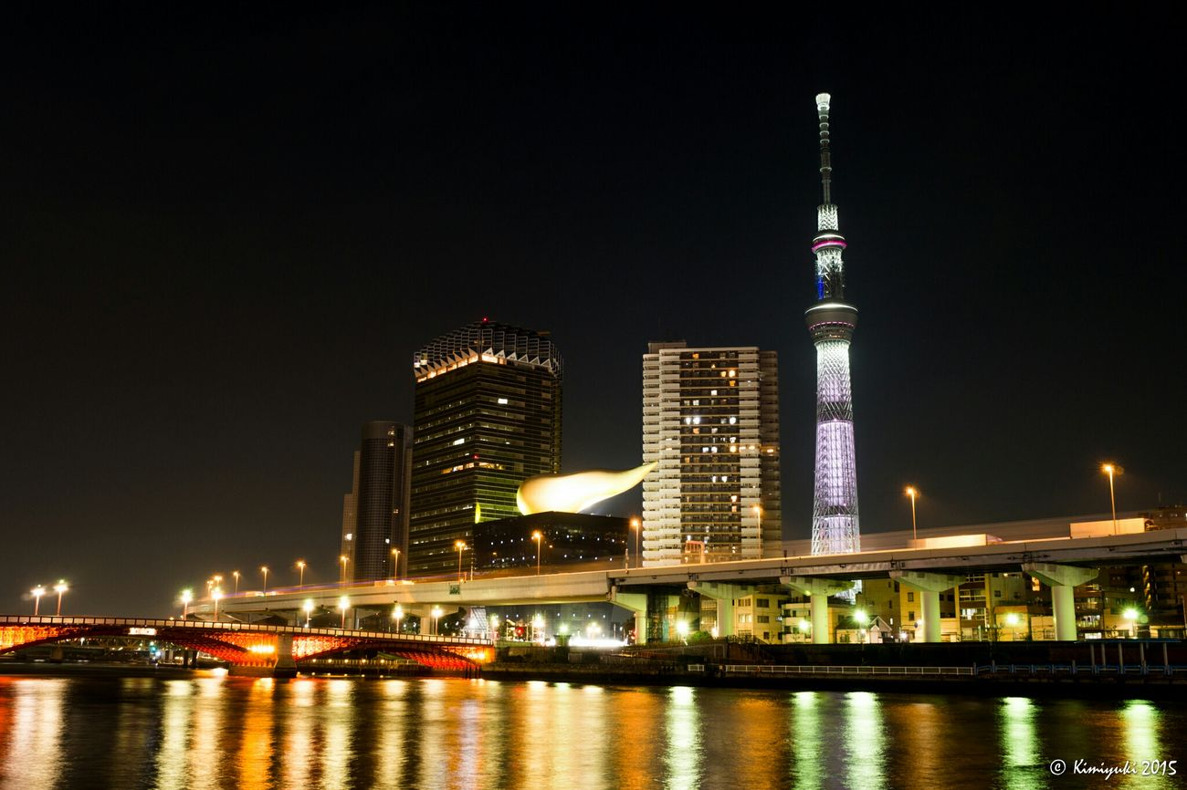 "Tokyo Skytree -咲- Nightphotography Nightview Tower Tokyoskytree Lightup 鉄塔♡Love ""桜""特別ライティング"