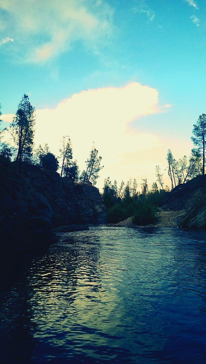 River Against Sky