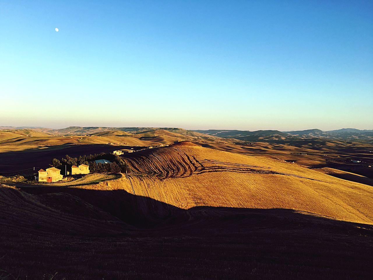 Italy Southitaly Basilicata Scenics Sunset Moon Countryside Landscape
