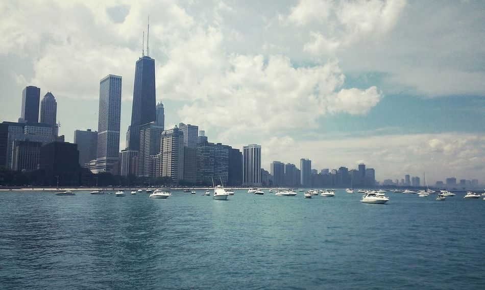 Beautiful stock photos of chicago skyline, Architecture, Boat, Building Exterior, Built Structure