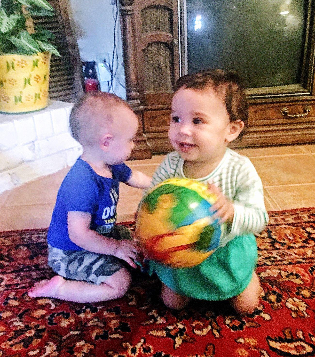Babies Cousins  Togetherness Baby Childhood Indoors  Cute Bonding Sweetness Grandchildren My sweet babies 😘🌺🌼 love these grandchildren 😘