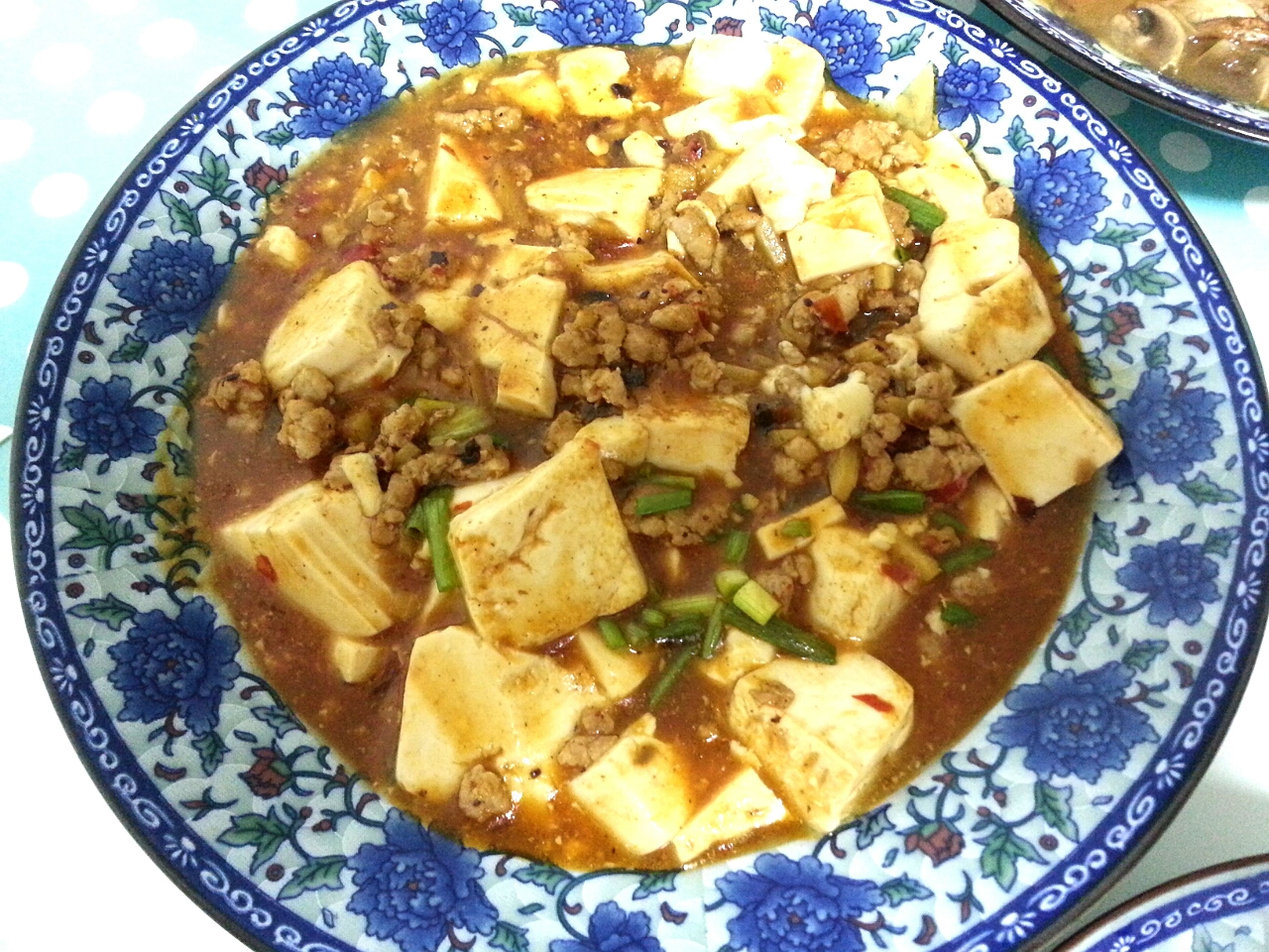 mapo tofu ♥ first dish that I cook in my life XD too spicy.... Food Minced Pork Cooking Tofu