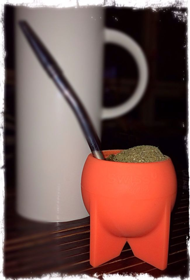 ..sitting on the couch and drinking Mate in my new one..