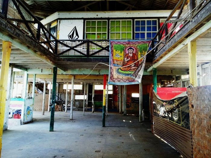 Hippie #warehouse Graffiti Built Structure Architecture Text Abandoned No People Day