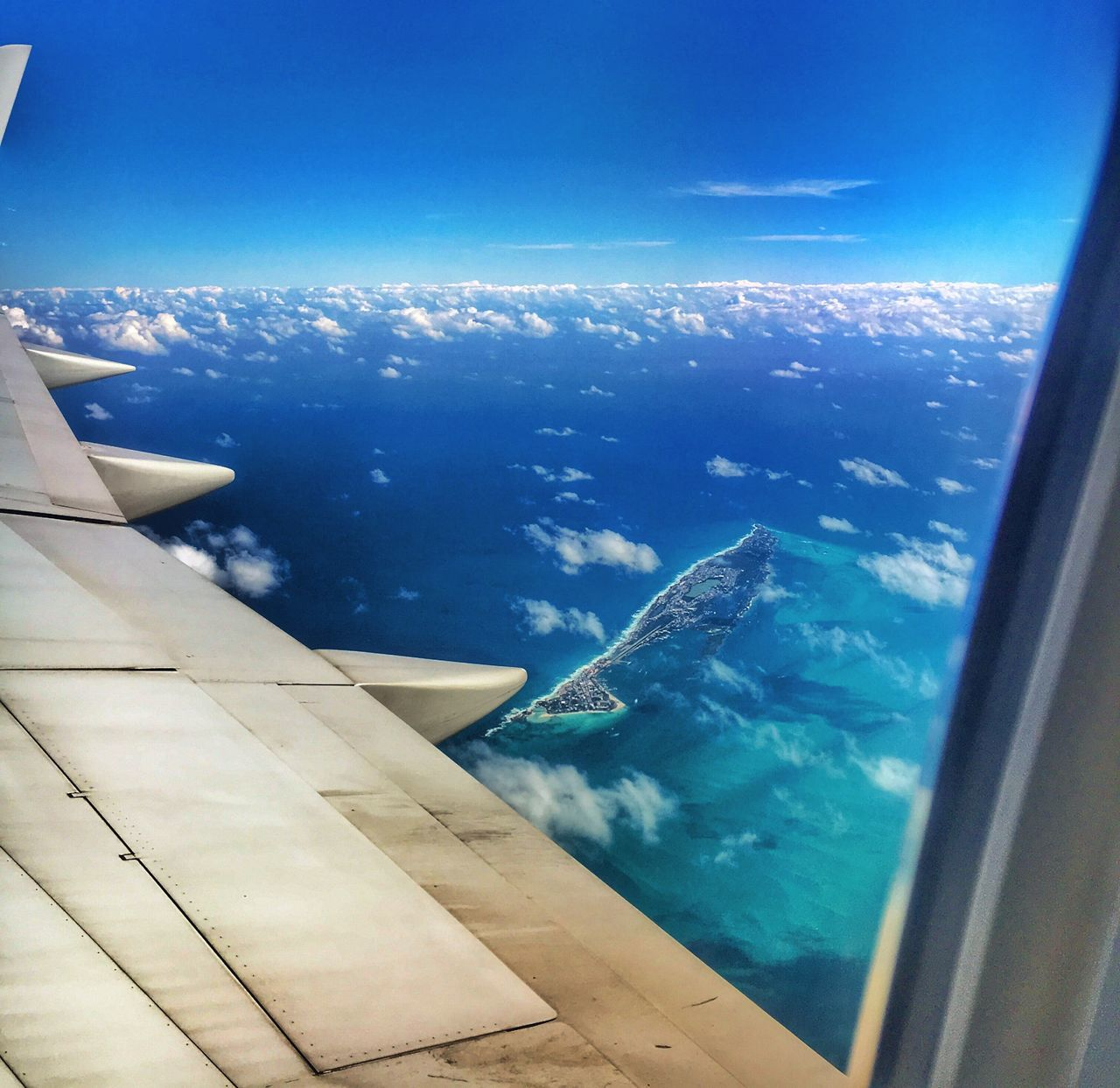 Airplane Aerial View Isla Mujeres Flying Transportation Nature Window Blue Airplane Wing Aircraft Wing Water Mexico Travel Travel Photography Iphone6s Iphonephotography Landscape Air Vehicle Sky Mid-air Scenics Beauty In Nature No People