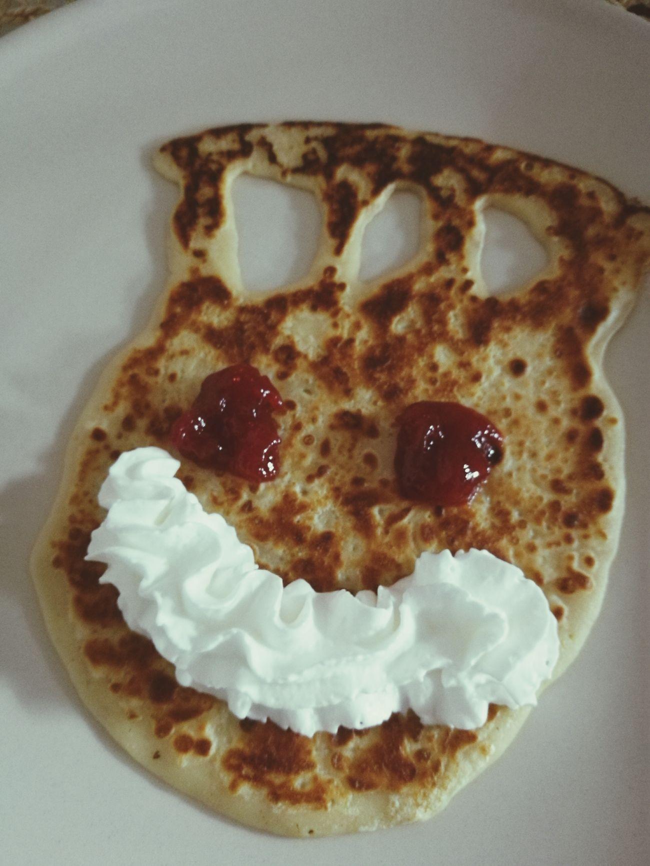 Food Sweet Food Baked Freshness Ready-to-eat Pancakes Pancake Sweet Jam Whippedcream Cream Yummy ♥ Slovakia🇸🇰 Lunchtime!