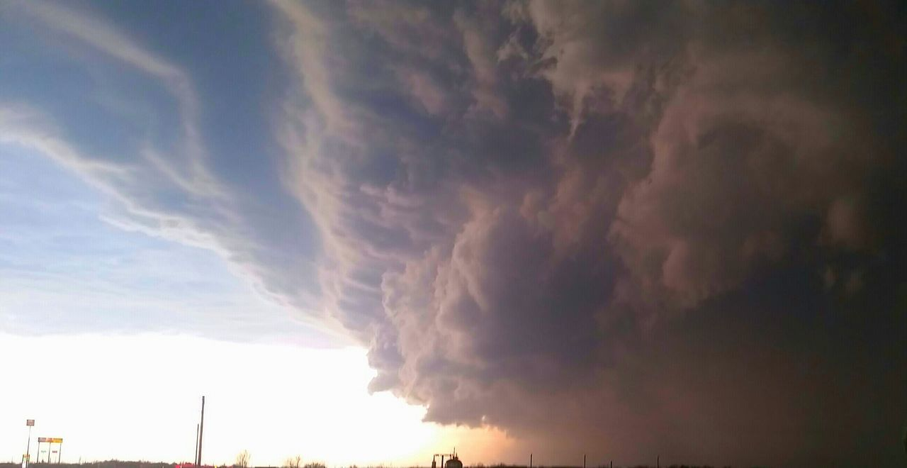 Look at the cloud closely Super Cell Stormy Weather Tornado Forming Oklahoma Clouds And Sky Extreme Weather Faces In The Clouds Signs - Warnings