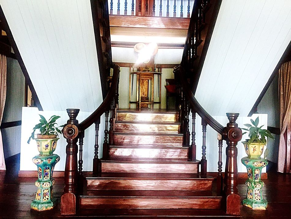 Museum Old House Stairs Wood - Material Bacolod Indoors  Architecture Built Structure No People Railing The Way Forward Architectural Column Day